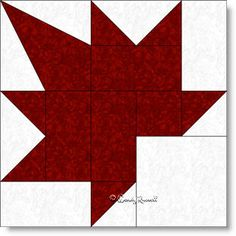 Free quilt block pattern for Maple Leaf, using templates for a different version than the most commonly used Maple Leaf block. Quilt Block Patterns, Pattern Blocks, Quilt Blocks, Patchwork Quilting, Paper Peicing Patterns, Canadian Quilts, Quilts Canada, Quilt Of Valor, Fall Quilts