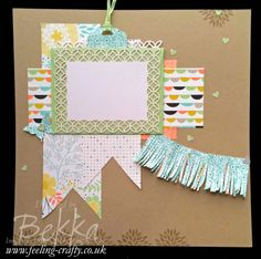 Love the fun texture added to this page by creating a fringe banner with the new fringe scissors.