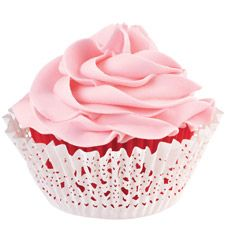 Wilton Doily Standard Baking Cup Kit, Red Inner Cup and White Outer Cup, Baking Party, Baking Cups, Cupcake Liners, Cupcake Wrappers, Red Cupcakes, Strawberry Cupcakes, Cooking Supplies, Paper Cupcake, Cake Decorating Supplies