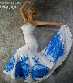 батик свадебное платье