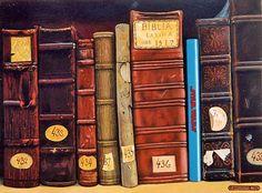 Title: A stranger among us n. 4. Author: Italian Surrealist Painter Franco Innocenti - Oil on canvas.