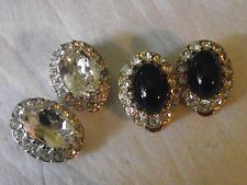 2 pairs of Attwood and Sawyer clip on earrings signed