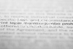 Legal mumbo-jumbo – lizenzfreie Stock-Fotografie