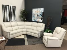 Sade is a great reclining sectional for small spaces! Only 96  x 96  as shown. Available in fabric or leather and it is also available as a sofa grouping. : small sectional reclining sofa - Sectionals, Sofas & Couches