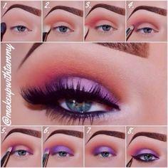 beautiful eye makeup tutorial of frozen princess Elsa - disney, 2014 Halloween #2014 #Halloween