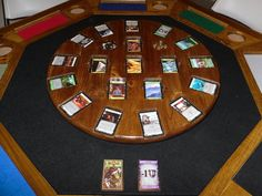 Wooden Dominion Card Game Table- @Thomas Southard - I need to make one of these!.
