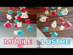 Móbile / Lustre com Flores de Feltro - YouTube https://www.youtube.com/watch?v=4iNpCvrU6W8