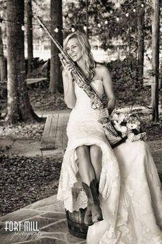Bride With Shot Gun Pic