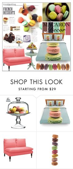 """""""Macaron Decor"""" by pat912 ❤ liked on Polyvore featuring interior, interiors, interior design, home, home decor, interior decorating, The Cellar, Skyline, Brewster Home Fashions and polyvoreeditorial"""