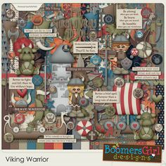 "BoomersGirl Designs: ""Viking Warrior"" Digital Kit"
