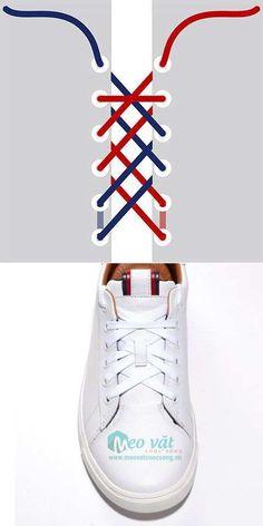 Cách buộc dây giày,cách thắt dây giầy,cách xỏ dây giầy,cách cột dây giầy ĐẸP