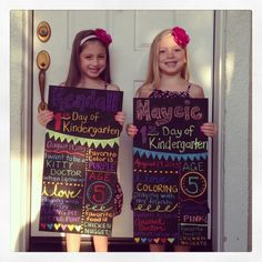 I love this idea for the kids first day of school each year!