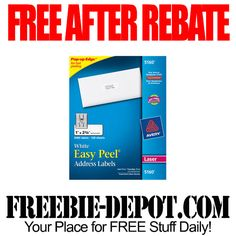 FREE AFTER REBATE – Mailing Labels - LIMIT 2 - Exp 3/22/14