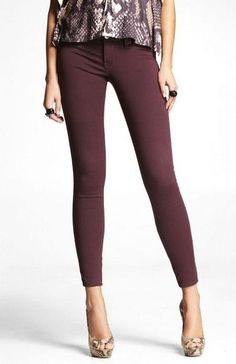 Jewel tone jeggings for Fall.