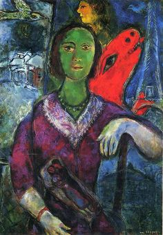 Portrait of Vava, Marc Chagall 1966