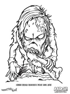 scary monster coloring pages