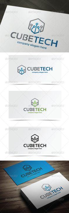 Cube Tech Logo Design Template Vector #logotype Download it here: http://graphicriver.net/item/cube-tech/5682430?s_rank=1577?ref=nexion