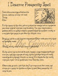 I Deserve Prosperity Spell, Book of Shadows Page, Real Spells, Witchcraft, Wicca Witchcraft Spells For Beginners, Magick Spells, Hoodoo Spells, Luck Spells, Gypsy Spells, Witch Spell, Pagan Witch, Prosperity Spell, Real Witches