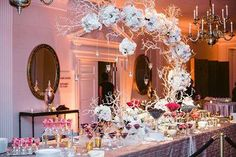 How to dress up a dessert table? Use an stunning centerpiece ~ Kehoe Designs