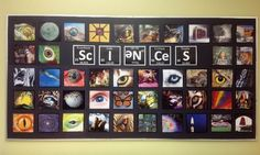 Oh my! Have students take photos of what their idea of science is and print to hang on the wall or door. Science classroom display photo - Photo gallery - SparkleBox Interesting display idea--could perhaps use with themes, moods, tones of stories Science Bulletin Boards, Science Boards, Classroom Bulletin Boards, Classroom Ideas, Classroom Organisation, Classroom Displays Secondary, Classroom Display Boards, Classroom Pictures, Classroom Management