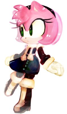 Still trying to figure out how to paint Amy's always my test subject~ Sonic The Hedgehog, Cute Hedgehog, Shadow The Hedgehog, Amy Rose, Shadow And Amy, Sonic And Amy, Miraclous Ladybug, Sonic Art, Pin Art