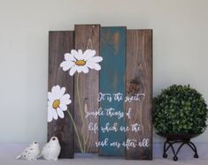 Everyone loves the delicateness of a dandelion.. The dandelion symbolizes survival, healing and clarity  Paired with the quote : Life is a balance of holding on and letting go… I believe everyone can relate to in one aspect or another. This sign measures 17 X 24 and is stained in a dark walnut, red stripe on one of the boards then hand painted in ivory/white lettering. I am able to change the color of the stripe if you desire something different, please just send me a message. All of my ...