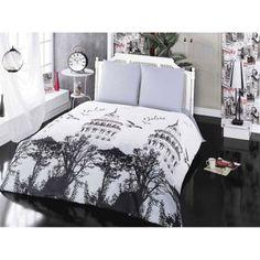 Black And White Duvet Cover Set For Kids - Single Size