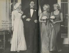 Alfred Angelo vintage designer fashion bride ad from 1975