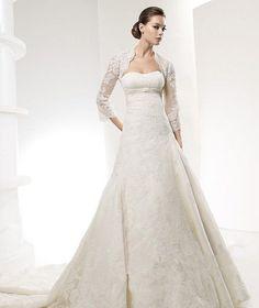 Free-Shipping-2013-New-font-b-Long-b-font-Train-font-b-Sleeve-b-font-Detachable 70 Breathtaking Wedding Dresses to Look like a real princess