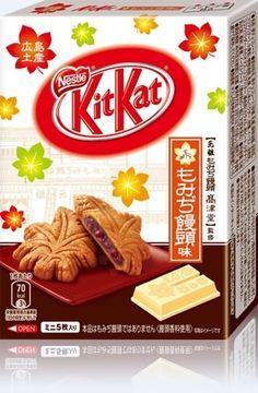 広島地区限定、もみぢ饅頭味のキットカット  (出典:ネスレ公式サイト)