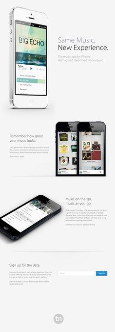 iPhone Music App by Travis Neilson, via Behance