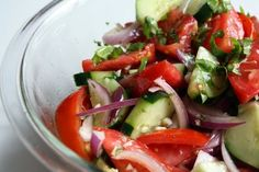 Eat Clean Summer Cucumber and Tomato Salad- 21 Day Fix Approved!