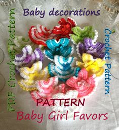 PATTERN Miniature Dress Favors For Party And Baby Shower, Little Decorations Crochet Pattern, Christmas Handmade Baby Gift by SandraHandmadeShop
