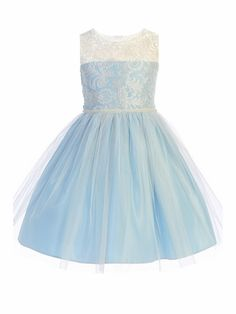 Sweet Kids Blue Luxe Embroidered Mesh w/ Pearl Trim Style: Luxe embroidered mesh dress Pearl trim Zipper closure Adjustable sash Crinoline layer and lining within Made in the U.A Sweet Kids Girls Dresses, Flower Girl Dresses, Mesh Dress, Something Blue, Logo Design, Ballet Skirt, Pearls, Sweet, Skirts
