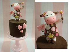 Cow cake topper...Cakes by Samantha
