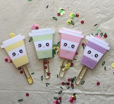 Kawaii Coffee Planner Clips
