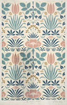 Wallpaper - The Anslem, late 19th century