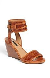 Rachel Zoe 'Norah' Embossed Leather Wedge Sandal