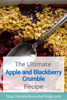 We recently went blackberry picking from the glut of blackberries in our local hedgerows. With our loot we baked the ultimate apple and blackberry crumble. Baby Food Recipes, Sweet Recipes, Baking Recipes, Family Recipes, Apple Recipes, Easy Recipes, Dinner Recipes, Blackberry And Apple Crumble, Apple Crumble Recipe