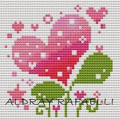 Cross Stitch For Kids, Cross Stitch Heart, Simple Cross Stitch, Cross Stitch Flowers, Cross Stitching, Cross Stitch Embroidery, Embroidery Patterns, Hand Embroidery, Cross Stitch Designs