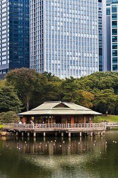 Kyu Shibarikyu Teien, Tokyo, Japan  http://www.japanesegardens.jp/gardens/famous/000009.php