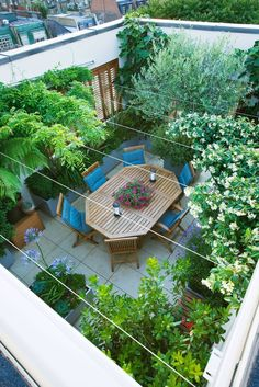Roof terrace photographed by Clive Nichols.