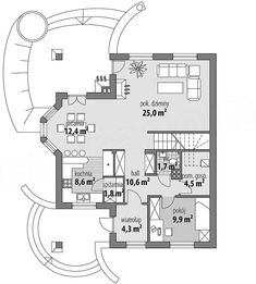 Projekt domu Ariadna III 135,2 m2 - koszt budowy 187 tys. zł - EXTRADOM The Plan, How To Plan, Civil Construction, House Design Pictures, House Plans, Floor Plans, House Styles, Dreams, Home Decor