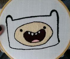 Adventure Time  Finn the Human  Embroidery by KingdomoftheGeek
