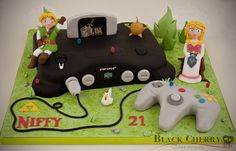 Nintendo 64 Zelda: Ocarina of Time Cake  Cake by littlecherry I want this so bad!