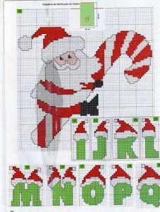 Ela está bordando e está ficando o máximo! Santa Cross Stitch, Cross Stitch Baby, Cross Stitch Alphabet, Cross Stitch Charts, Cross Stitch Designs, Cross Stitch Patterns, Cross Stitching, Cross Stitch Embroidery, Embroidery Alphabet