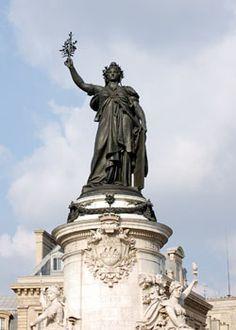 Marianne - Monument à la République (by the Morice brothers), Place de la République, Paris