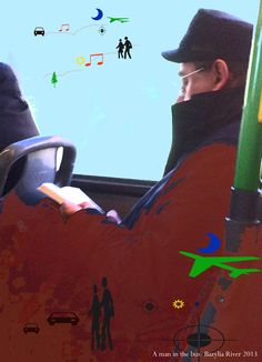reading in a bus