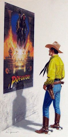 Indiana Jones and Tex by Aldo Di Gennaro *