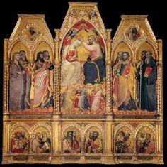 Spinello Aretino - Incoronazione della Vergine - 1401 - tempera e oro su tavola - Galleria dell'Accademia, Firenze
